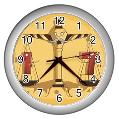 Oddly Even Wall Clock (silver) by DesignsbyReg