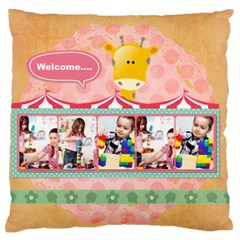 Kids By Kids   Large Cushion Case (two Sides)   3rax0xf13zjm   Www Artscow Com Front
