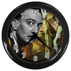 Dali s whiskers Wall Clock (Black) by Contest1720196