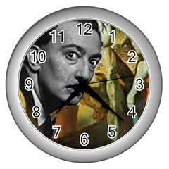 Dali s whiskers Wall Clock (Silver) by Contest1720196