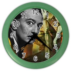 Dali s whiskers Wall Clock (Color) by Contest1720196