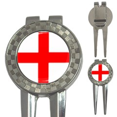 england flag 3-in-1 Golf Divot by Brenco