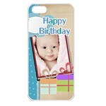 happy birthday - Apple iPhone 5 Seamless Case (White)