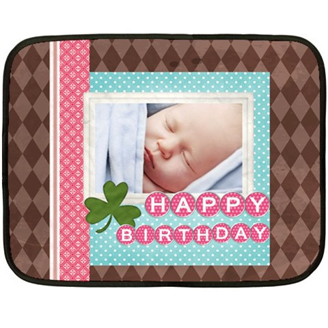 Happy Birthday By Happy Birthday   Fleece Blanket (mini)   Uijf195efzup   Www Artscow Com 35 x27 Blanket