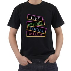 Life Before Social Media Mens' T Shirt (black)