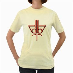 Design Bureau  Womens  T Shirt (yellow)