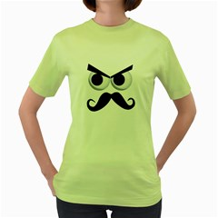 Angry Man Womens  T Shirt (green) by Contest1736471