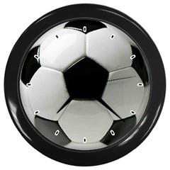 SOCCER CLOCK Wall Clock (Black) by Contest1736471