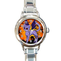 Serukivampirecat Round Italian Charm Watch by Kittichu