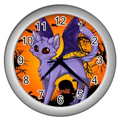Serukivampirecat Wall Clock (silver) by Kittichu