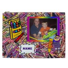 Crayon Xxl Cosmetic Bag By Joy Johns   Cosmetic Bag (xxl)   Kjj82z180jcz   Www Artscow Com Front