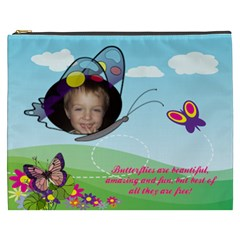 Butterfly  Cosmetic Bag By Joy Johns   Cosmetic Bag (xxxl)   7ifhn2y3ij0j   Www Artscow Com Front