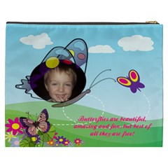 Butterfly  Cosmetic Bag By Joy Johns   Cosmetic Bag (xxxl)   7ifhn2y3ij0j   Www Artscow Com Back
