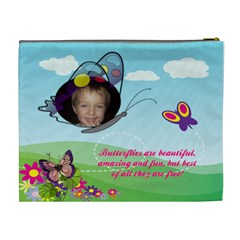 Butterflyxl Cosmetic Bag By Joy Johns   Cosmetic Bag (xl)   M9cma1rkb4w0   Www Artscow Com Back