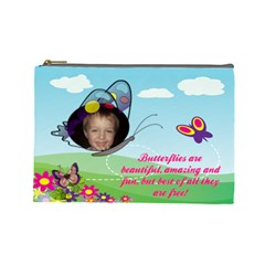 Butterfly Large Cosmetic Bag By Joy Johns   Cosmetic Bag (large)   Cd3qsqv0c18a   Www Artscow Com Front