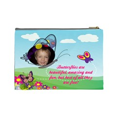 Butterfly Large Cosmetic Bag By Joy Johns   Cosmetic Bag (large)   Cd3qsqv0c18a   Www Artscow Com Back