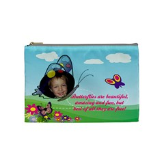 Butterfly Medium Cosmetic Bag By Joy Johns   Cosmetic Bag (medium)   Qk07u26j1911   Www Artscow Com Front