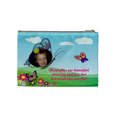 Butterfly Medium Cosmetic Bag By Joy Johns   Cosmetic Bag (medium)   Qk07u26j1911   Www Artscow Com Back