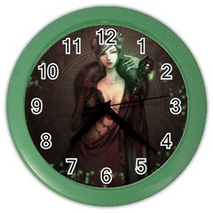 Lady in Red Wall Clock (Color) by Contest1706914