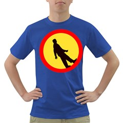 Walking Traffic Sign Mens' T Shirt (colored) by youshidesign