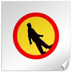Walking Traffic Sign Canvas 20  X 20  (unframed) by youshidesign
