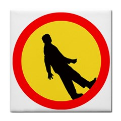 Walking Traffic Sign Face Towel by youshidesign