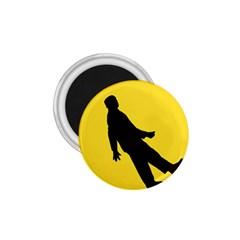 Walking Traffic Sign 1 75  Button Magnet
