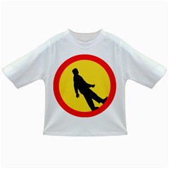 Walking Traffic Sign Baby T Shirt by youshidesign