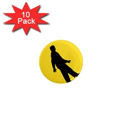 Walking Traffic Sign 1  Mini Button Magnet (10 Pack) by youshidesign