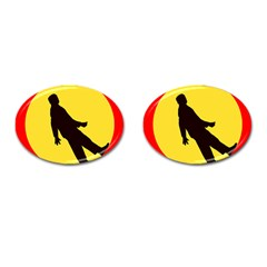 Walking Traffic Sign Cufflinks (oval) by youshidesign