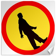Walking Traffic Sign Canvas 12  X 12  (unframed)