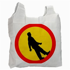Walking Traffic Sign Recycle Bag (two Sides) by youshidesign