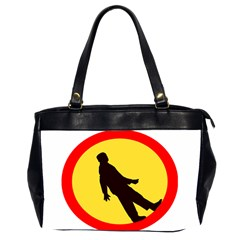 Walking Traffic Sign Oversize Office Handbag (two Sides) by youshidesign