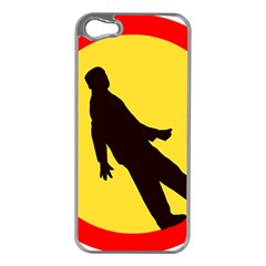 Walking Traffic Sign Apple Iphone 5 Case (silver) by youshidesign
