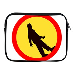 Walking Traffic Sign Apple Ipad 2/3/4 Zipper Case by youshidesign