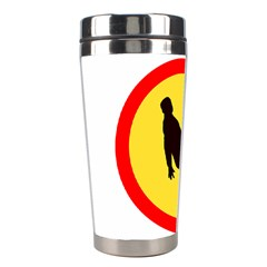 Walking Traffic Sign Stainless Steel Travel Tumbler by youshidesign