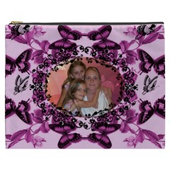 Butterfly  Cosmetic Bag By Joy Johns   Cosmetic Bag (xxxl)   Cr0zrzjnp1f2   Www Artscow Com Front