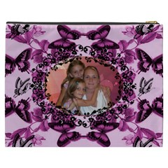 Butterfly  Cosmetic Bag By Joy Johns   Cosmetic Bag (xxxl)   Cr0zrzjnp1f2   Www Artscow Com Back
