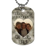 h - Dog Tag (One Side)