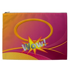 Wow Xxl Cosmetic Bag By Joy Johns   Cosmetic Bag (xxl)   Zc33nout7rjv   Www Artscow Com Front