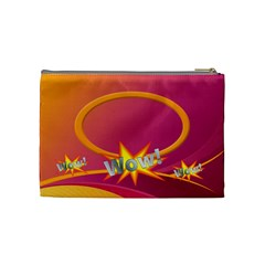 Wow Medium Cosmetic Bag By Joy Johns   Cosmetic Bag (medium)   Y0wv83614z9p   Www Artscow Com Back