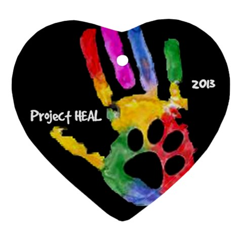 Project Heal Blk Heart Ornament By Ann   Ornament (heart)   Vl9ngumn8nm9   Www Artscow Com Front