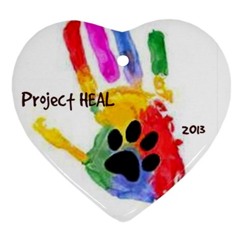 Project Heal White & Date Heart Ornament By Ann   Ornament (heart)   B2m3m4uihfus   Www Artscow Com Front