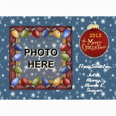 Holiday Card #1, 5x7 By Joy Johns   5  X 7  Photo Cards   M20jj26n1a3j   Www Artscow Com 7 x5 Photo Card - 7