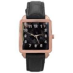 I am watching you! Rose Gold Leather Watch