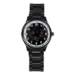 I Am Watching You! Sport Metal Watch (black) by plindlau