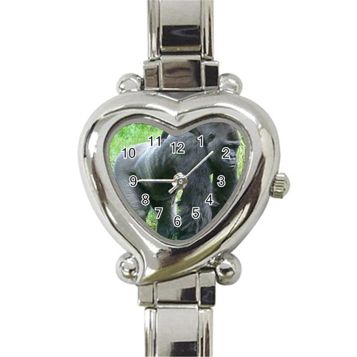 gorilla dad Heart Italian Charm Watch