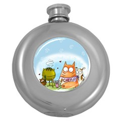 Apron Hip Flask (Round) by PookieCatWorld