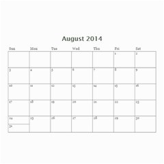 Calander For Tzipora By Chaya   Wall Calendar 8 5  X 6    6szcbyv82agn   Www Artscow Com Aug 2014