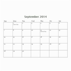 Calander For Tzipora By Chaya   Wall Calendar 8 5  X 6    6szcbyv82agn   Www Artscow Com Sep 2014